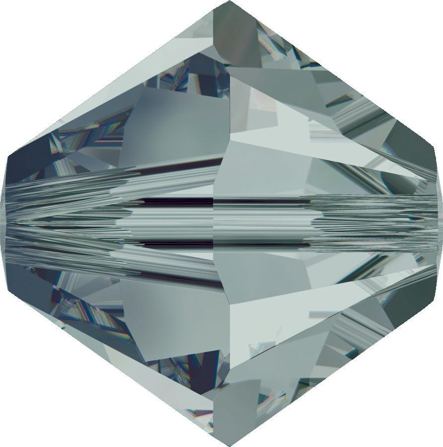 Swarovski Beads 5328 6mm XILION Bicone Black Diamond