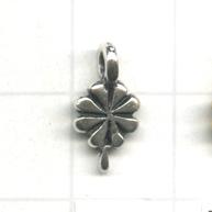 bedels 10mm oudzilver bloem metaal