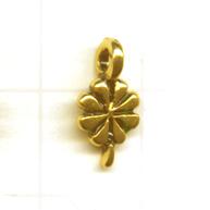 bedels 10mm goud bloem metaal