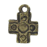 bedels 13mm oudgoud kruis metaal