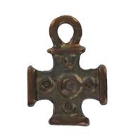 bedels 17mm brons kruis metaal