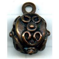 bedels 13mm brons rond tin