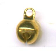 belletjes 6mm goud rond metaal