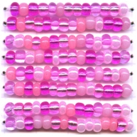 rocailles 4mm roze rond glas kleurnummer 605