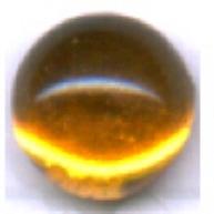 boutons 6mm bruin kleurig rond glas