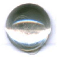 boutons 8mm doorzichtig kristal rond glas