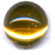 boutons 8mm geel bruin rond glas