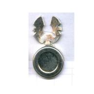 boutons 17mm zilver rond metaal