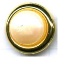 boutons 18mm goud rond staal