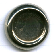 boutons 23mm zilver rond staal