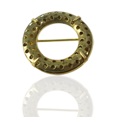 broches ring 25mm goud rond metaal