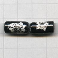 buisjes 16mm zwart rechthoek porselein