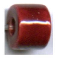buisjes 9mm rood cilinder keramiek