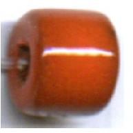 buisjes 10mm oranje cilinder keramiek