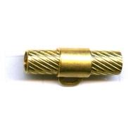 buisjes 24mm goud rechthoek