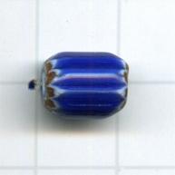 chevronkralen 9mm blauw ovaal glas