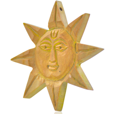 hanger hout zon 65x6mm