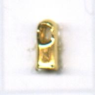 eindkappen 5x1.5mm goud rechthoek