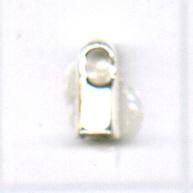 eindkappen 5x1.5mm zilver rechthoek