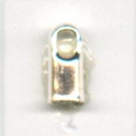 eindkappen 5x2mm zilver rechthoek