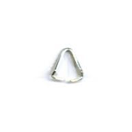 eindklemmen 8mm zilver driehoek