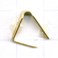 eindklemmen 11mm goud driehoek