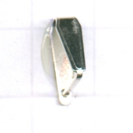 eindklemmen 11mm zilver driehoek