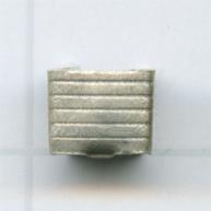 eindklemmen 5mm oudzilver vierkant