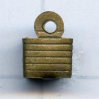 leerklemmen 5mm oudgoud vierkant