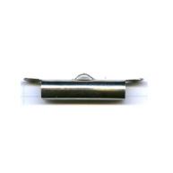 eindklemmen 25mm zilver cilinder