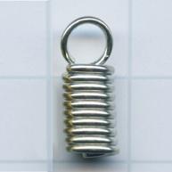eindklemmen 4mm zilver rechthoek kleurnummer 738