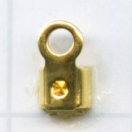 eindklemmen 8mm goud vierkant