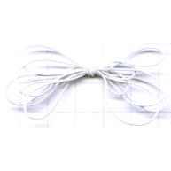 elastiek - wit rond kunststof
