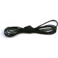 elastiek - zwart rond kunststof