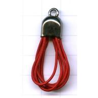 elastiek - rood rond kunststof