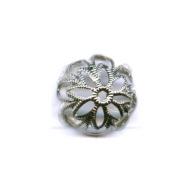 filigrain 14mm zilver rond
