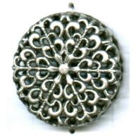 filigrain 26mm oudzilver rond