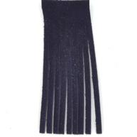 Franjeband 65mm blauw leer
