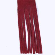 Franjeband 65mm rood leer kleurnummer 7