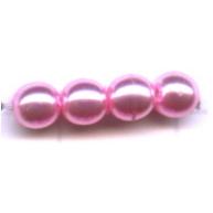 glasparels 4mm roze rond