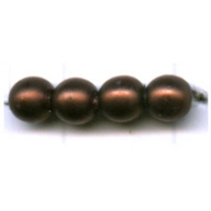 glasparels 4mm bruin rond kleurnummer 519