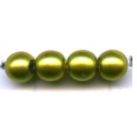 glasparels 4mm groen rond