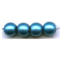 glasparels 4mm turquoise rond kleurnummer 569