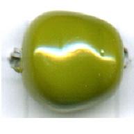 glaskralen 12mm groen barok