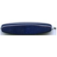 Glaskraal ovaal 28mm blauw ovaal