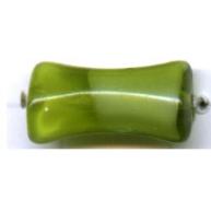 glaskralen 15mm groen botje