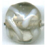glaskralen 12mm wit rond kleurnummer 300