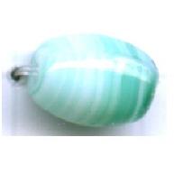glaskralen 9mm turquoise ovaal