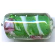 glaskralen 17mm groen cilinder