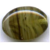 glaskralen 12mm groen ovaal kleurnummer 62